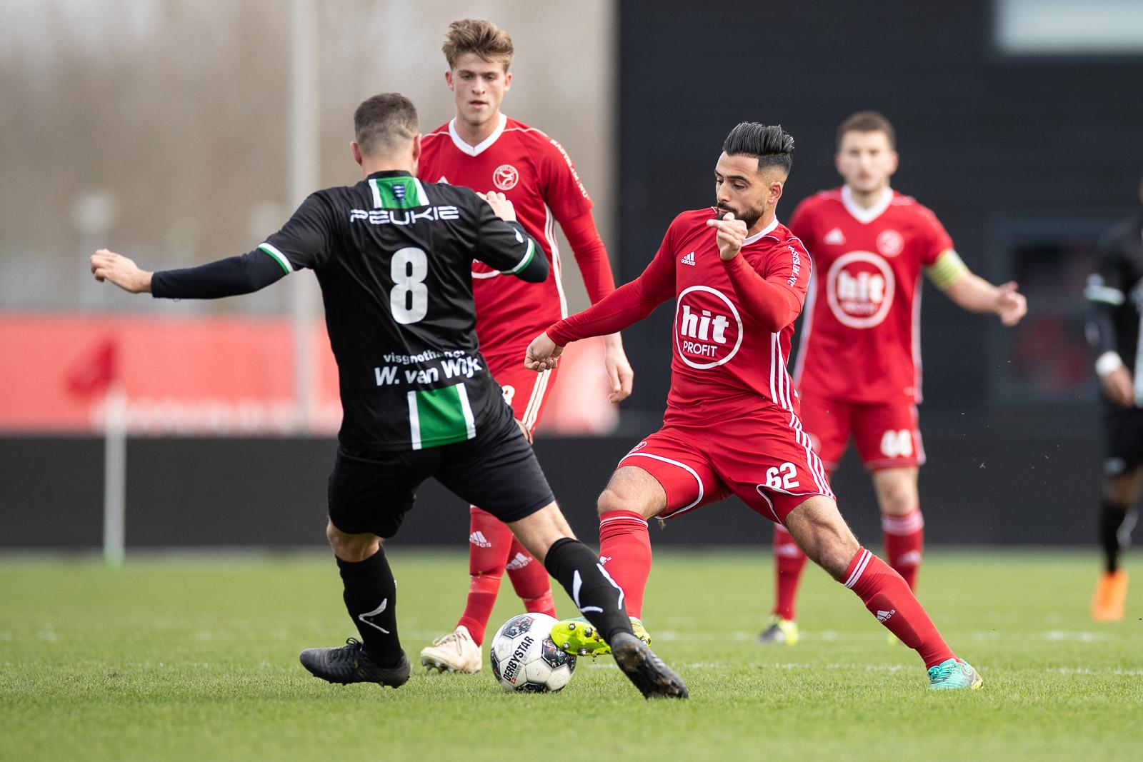 Jong Almere City FC verliest ook van Scheveningen