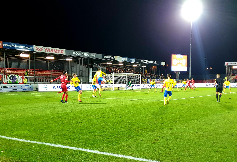 Almere City FC beter, maar verliest wel van Cambuur