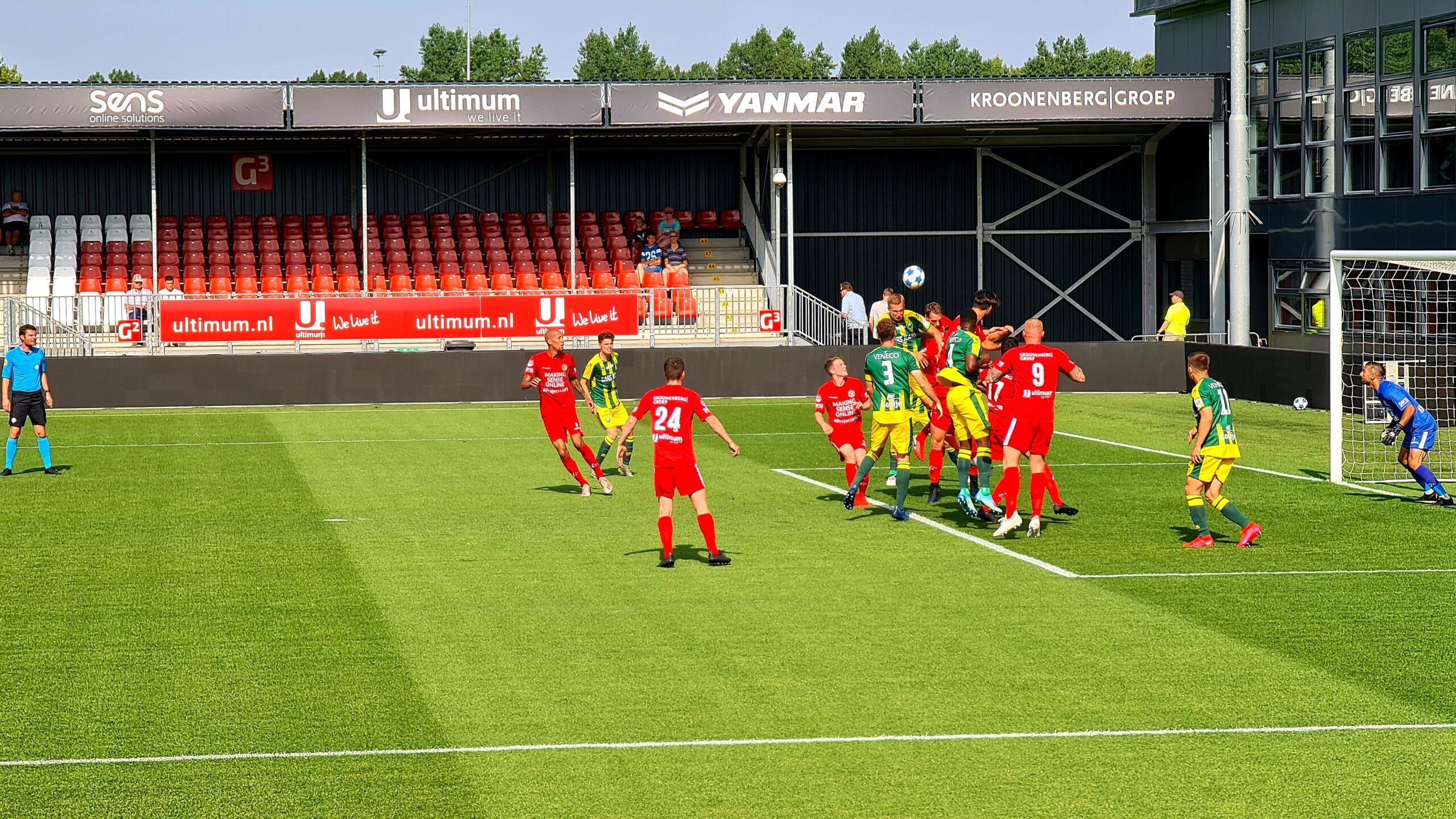 Almere City FC verliest na 120 minuten voetbal van ADO Den Haag
