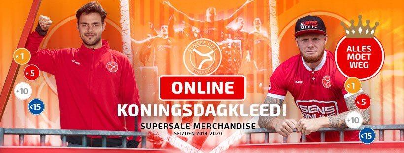 Flinke kortingen op merchandise Almere City FC tijdens koningsdag