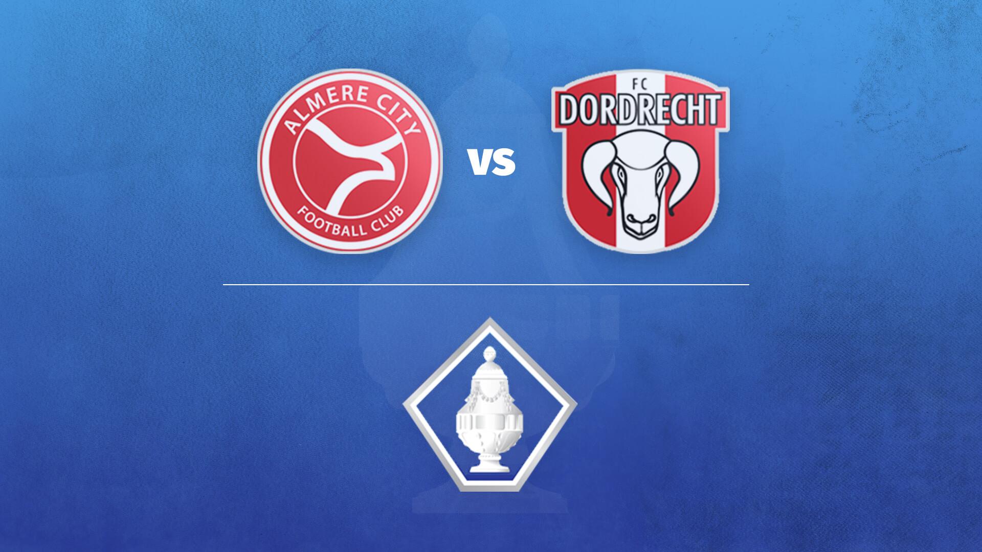 FC Dordrecht de tegenstander in de 1e ronde KNVB Beker. Update: Tijdstip bekend