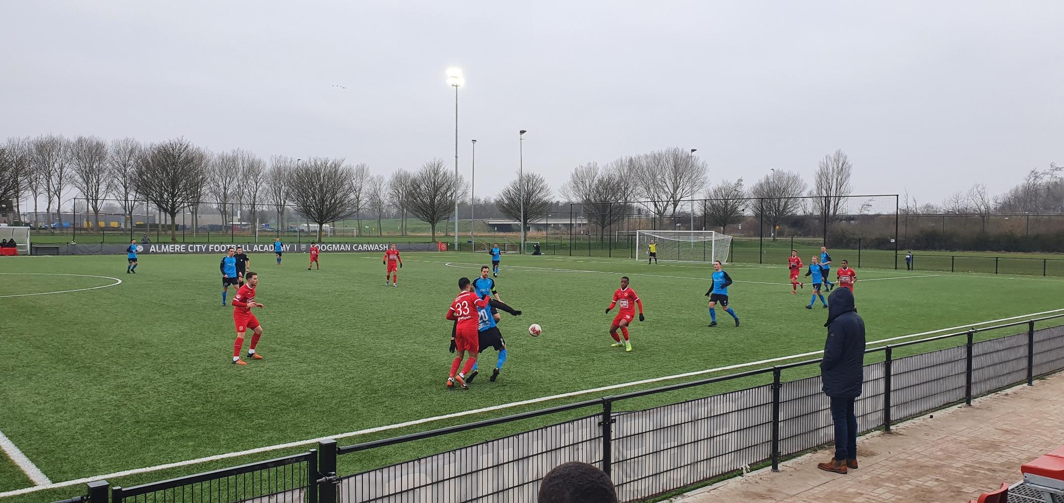 8 doelpunten bij gelijkspel Jong Almere City FC