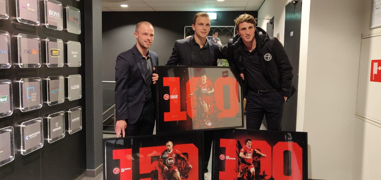 Kip, Mirani en Receveur vieren jubileum bij Almere City FC