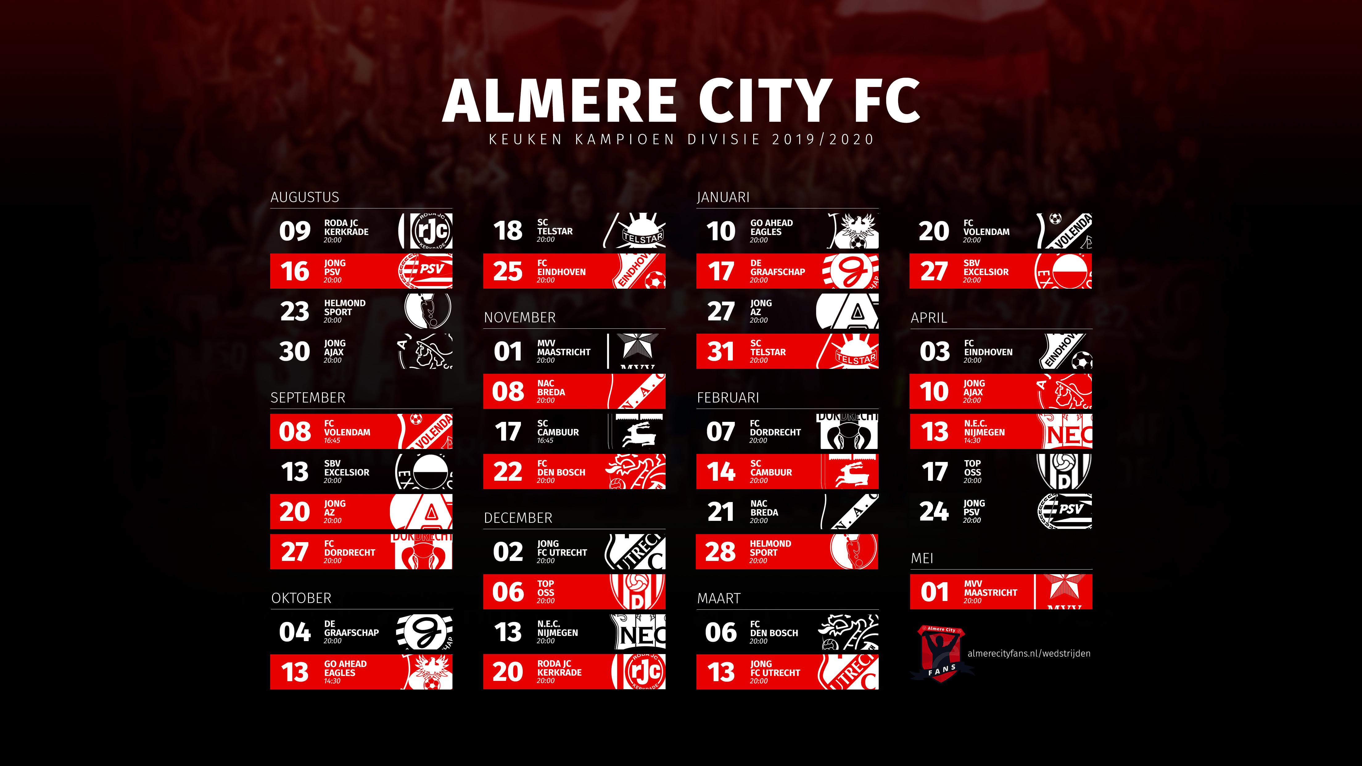 Download nu het wedstrijdschema als poster!